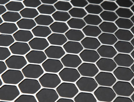 Hexagonal-holed perforated metal sheets